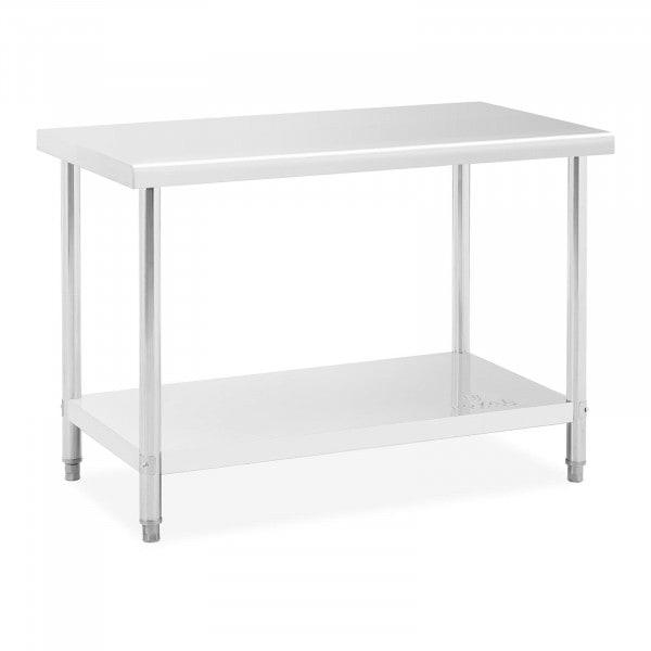 Pracovní stůl z ušlechtilé oceli - 120 x 60 cm