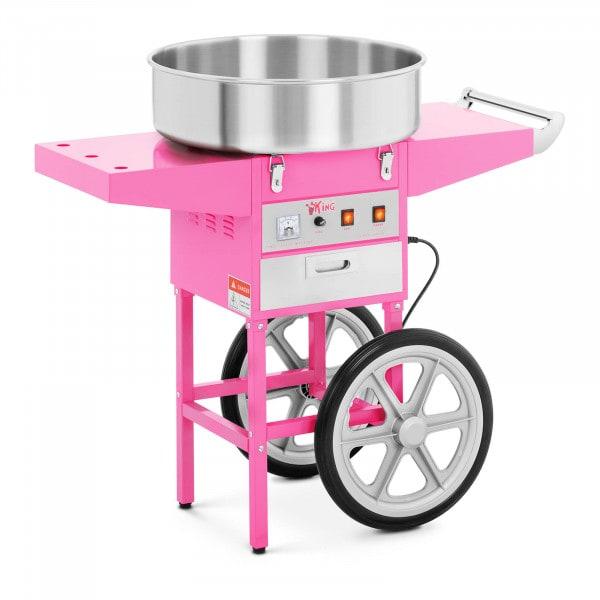Stroj na cukrovou vatu s vozíkem - 52 cm