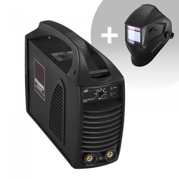 Svařovací set Elektrodová svářečka - 250 A - Hot Start - IGBT + Svářecí helma - Blaster - ADVANCED SERIES
