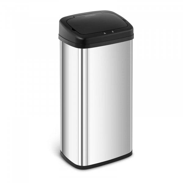 B-zboží Bezdotykový odpadkový koš - 40 l - hranatý
