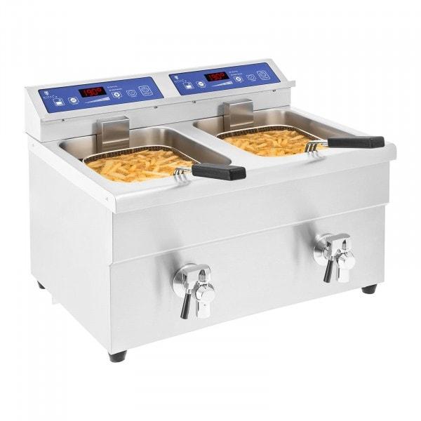 Indukční fritéza - 2x10 litrů - 60 až 190 °C