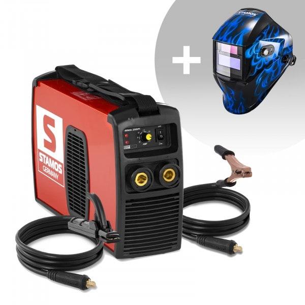 Svařovací set Elektrodová svářečka - 200 A - 230 V + Svářecí helma - Sub Zero - EASY SERIES