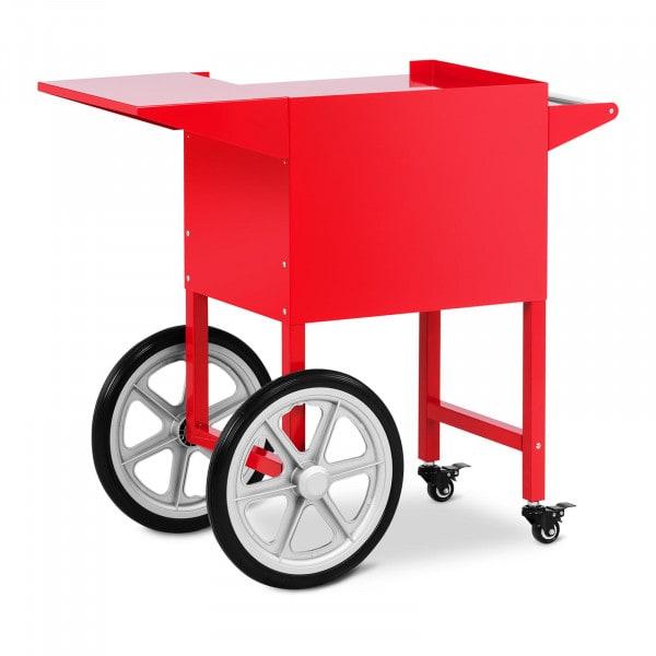 Vozík na stroj na popcorn - červený -51 x 37 cm