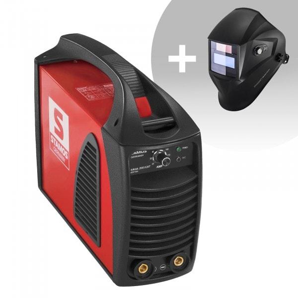 Svařovací set Elektrodová svářečka - 200 A - Hot Start - IGBT + Svářecí helma - Operator - EASY SERIES