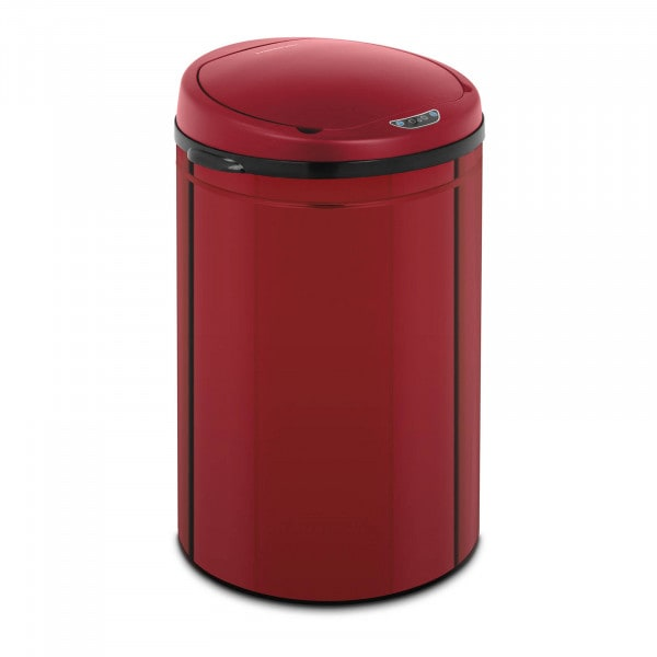 B-zboží Bezdotykový odpadkový koš - 30 L - vnitřní vedro - červený - uhlíková ocel