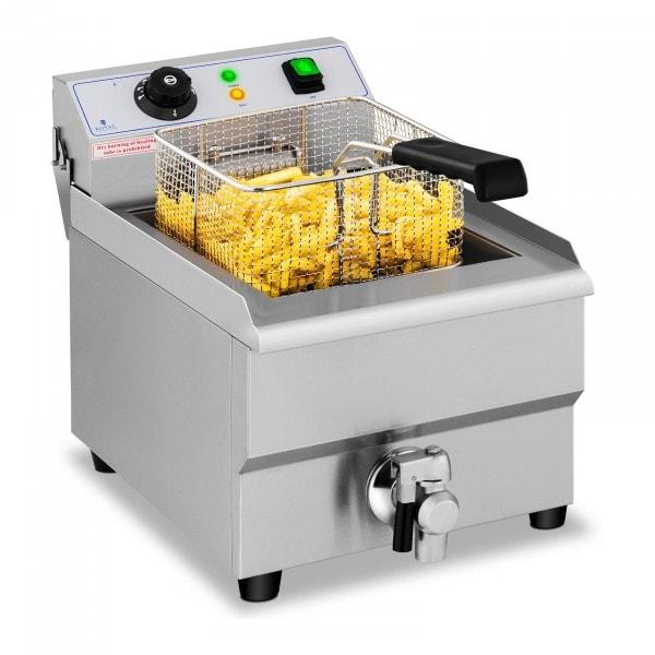 Elektrická fritéza - 16 litrů - vypouštěcí kohout - 230 V