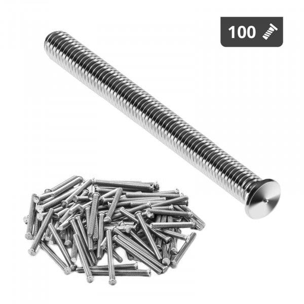 Navařovací šrouby-M4-40 mm-ušlechtilá ocel-100 kusů