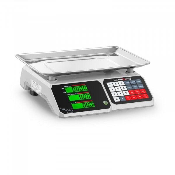B-zboží Obchodní váha - 30 kg / 1 g - 34,1 x 24,1 cm - LCD