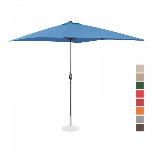 B-zboží Velký slunečník - modrý - obdélníkový - 200 x 300 cm