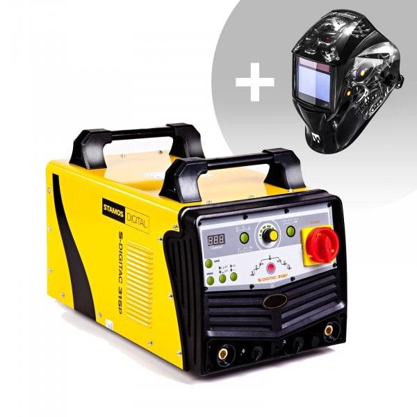 Svařovací set ALU svářečka - 315 A - 400 V - Puls -digitální - 2/4 takt + Svářecí helma - Metalator - EXPERT SERIES