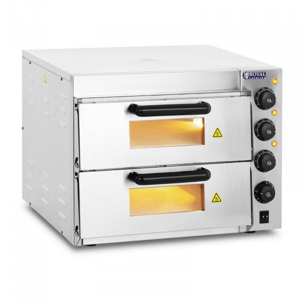 Pec na pizzu-2 komory-šamotové dno