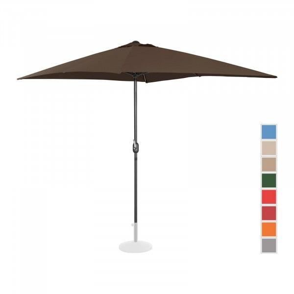 B-zboží Velký slunečník - hnědý - obdélníkový - 200 x 300 cm