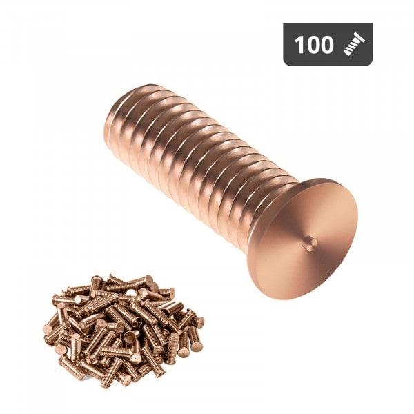 Navařovací šrouby - M3 - 10 mm - ocel - 100 kusů