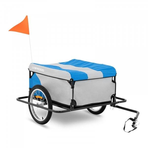 B-zboží Nákladní vozík za kolo - 50 kg - boční nárazníky - plachta