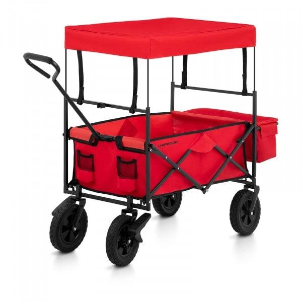 Zboží z druhé ruky Skládací vozík se stříškou - červený - s brzdami