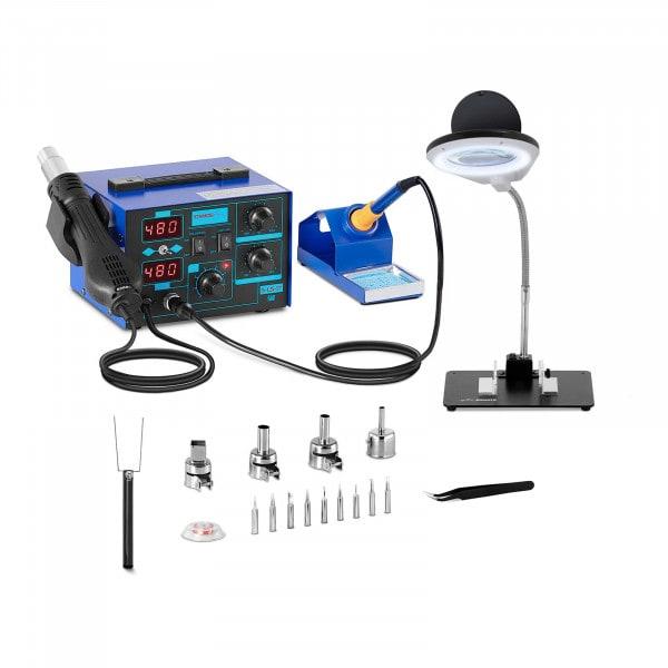 Pájecí stanice s integrovaným napájecím zdrojem - 2 displeje - 730 wattů