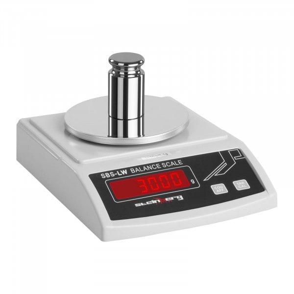 Přesná váha - 3 000 g / 0,1 g - bílá