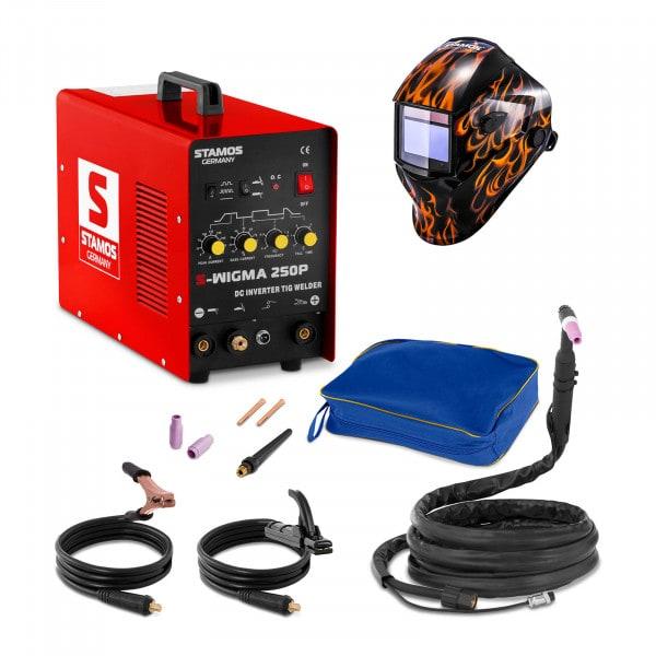 Svařovací set TIG svářečka - 250 A - 230 V - Puls + Svářecí helma - Firestarter 500 - ADVANCED SERIES
