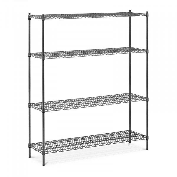 B-zboží Kovový regál - 150 x 45 x 180 cm - 1 000 kg - šedý