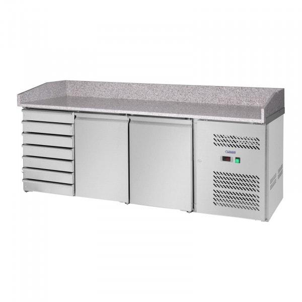 Chladicí stůl - 240 l - žulová pracovní deska - 2 dveře