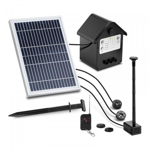 B-zboží Solární fontána - 250 l/h - LED - s dálkovým ovládáním