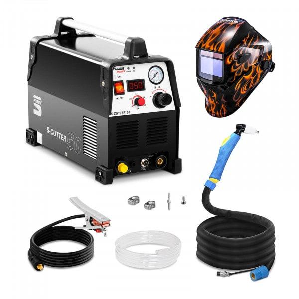 Svařovací set Plazmová řezačka - 50 A - 230 V - Pro + Svářecí helma - Firestarter 500 - ADVANCED SERIES