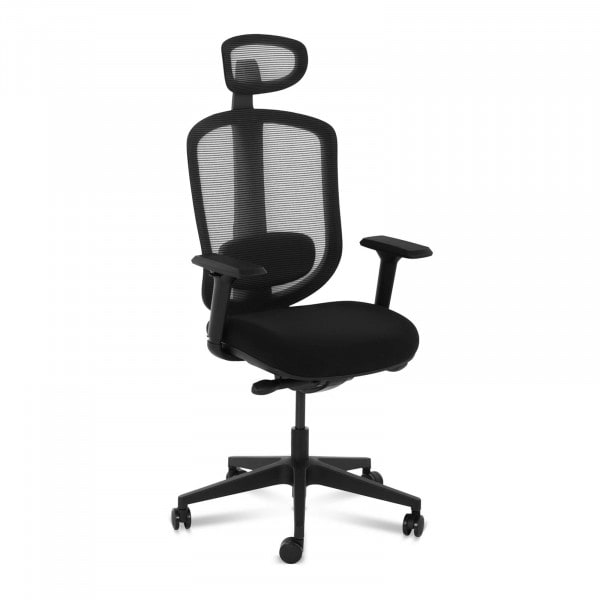 B-zboží Kancelářská židle - síťové opěradlo - opěrka hlavy a lordózy - 150 kg