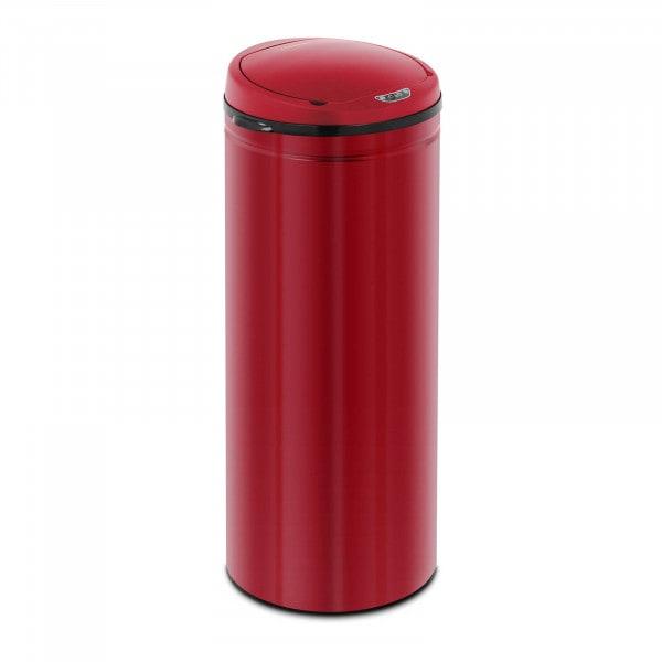 B-zboží Bezdotykový odpadkový koš- 50 L - červený - vnitřní vedro - uhlíková ocel