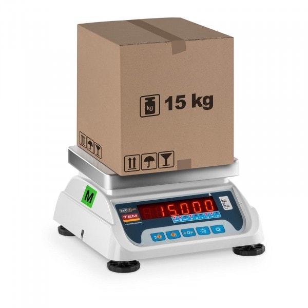 Obchodní váha - 6 kg/2 g - 15 kg/5 g - LED