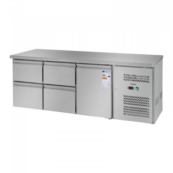 Chladicí stůl - 403 l - 1 dveře - 4 zásuvky