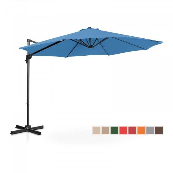 B-zboží Boční slunečník - modrý - kulatý - Ø 300 cm - otočný