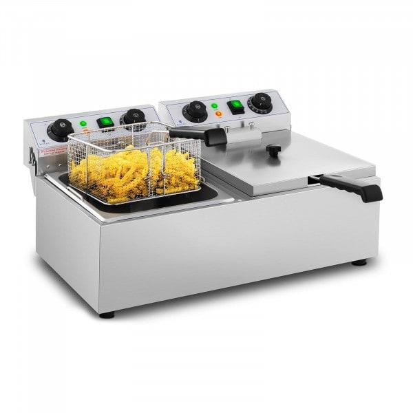 B-WARE Elektrická fritéza - 2 x 10 litrů - časovače - 230 V