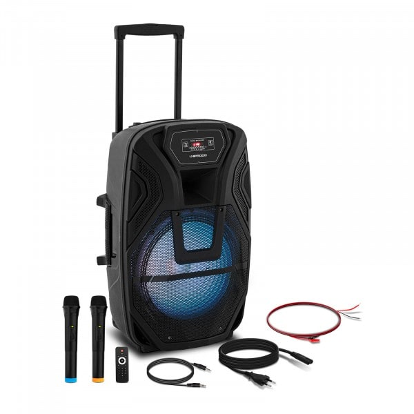 B-zboží Přenosný reproduktor - 2 mikrofony - dálkové ovládání - 50 W