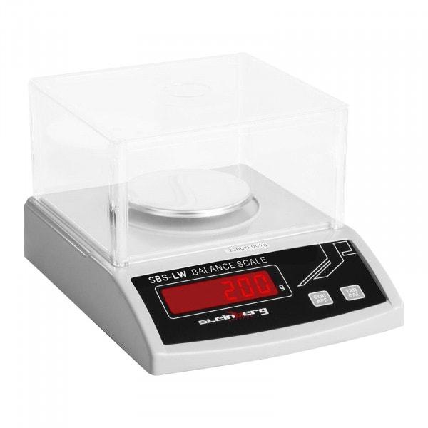 B-zboží Přesná váha - 200 g / 0,001 mg - bílá