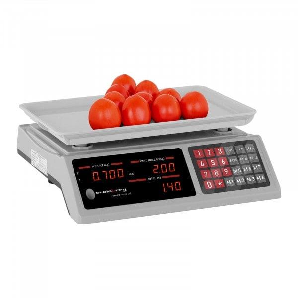 B-zboží Kontrolní váha - 40 kg / 2 g - 33,7 x 23,1 x 0,6 cm - ABS plast