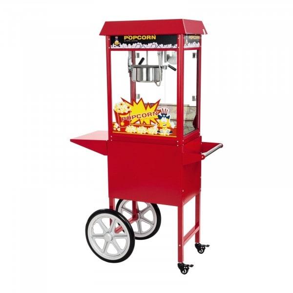 Gesamtansicht von Popcornmaschine - inkl. Wagen