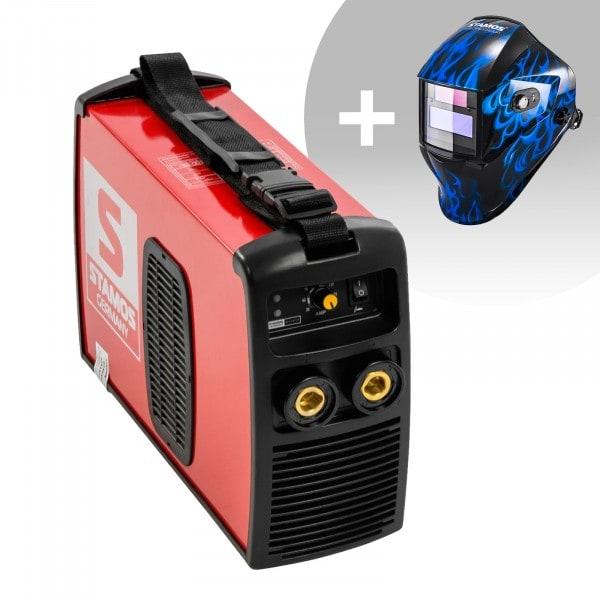 Svařovací set Elektrodová svářečka - 180 A - 230 V + Svářecí helma - Sub Zero - EASY SERIES