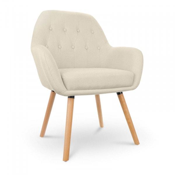 B-zboží Čalouněná židle - do 150 kg - sedací plocha 45 x 42 cm - béžová