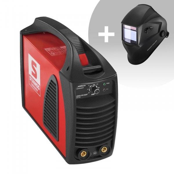 Svařovací set Elektrodová svářečka - 180 A - Hot Start - IGBT + Svářecí helma - Blaster - ADVANCED SERIES