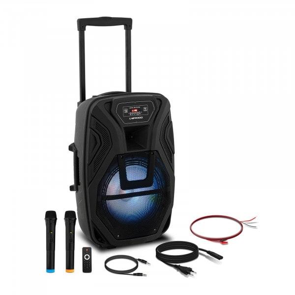B-zboží Přenosný reproduktor - 2 mikrofony - dálkové ovládání - 40 W
