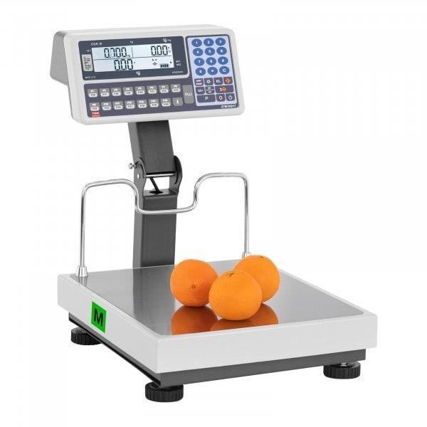 B-zboží Obchodní váha můstková - cejchovaná - 15 kg/5 g - 30 kg/10 g