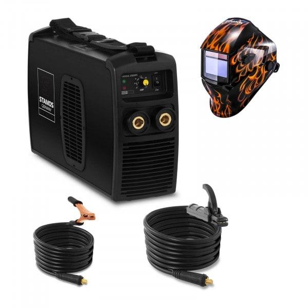 Svařovací set Elektrodová svářečka - 250 A - 230 V + Svářecí helma - Firestarter 500 - ADVANCED SERIES