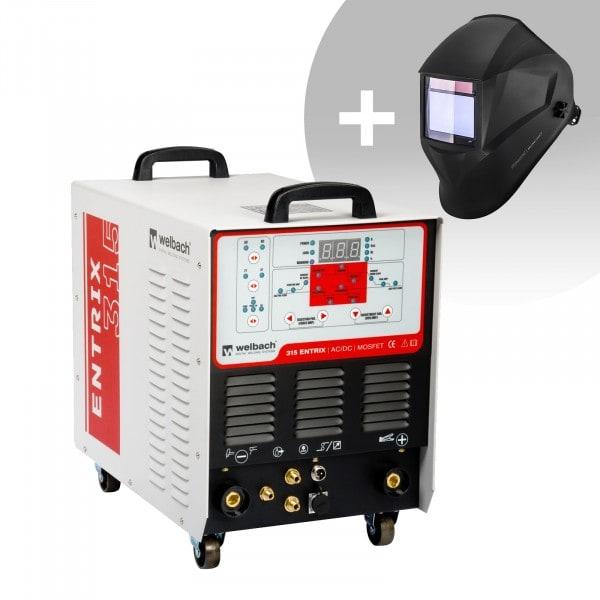Svařovací set ALU svářečka - 315 A - 400 V - Puls - digitální -2/4 takt + Svářecí helma- BlackONE - EXPERT SERIES