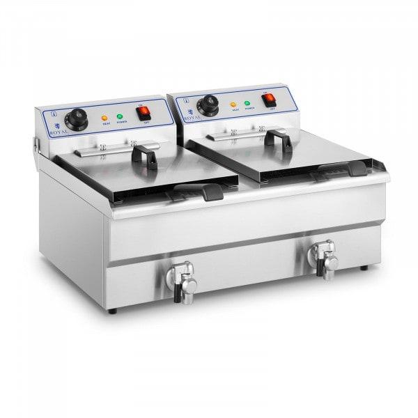 B-zboží Elektrická fritéza - 2 x 16 l - 400 V