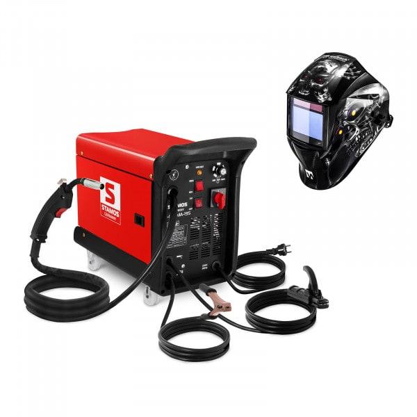 Svařovací set Kombinovaná svářečka - 195 A - 230 V - přenosná + Svářecí helma - Metalator - EXPERT SERIES