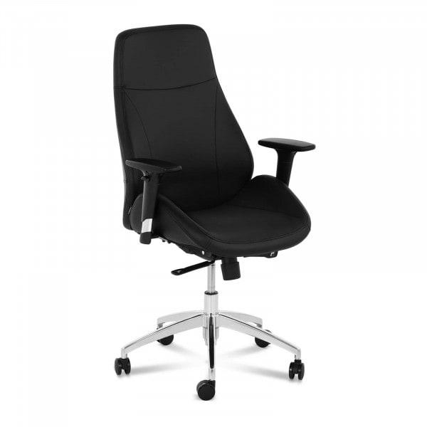 B-zboží Kancelářská židle - manažerské křeslo - syntetická kůže - chrom - 150 kg