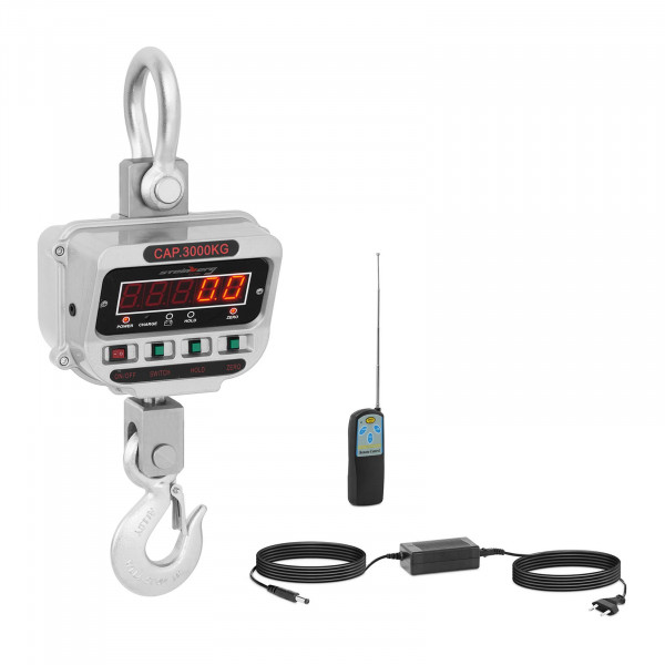 Jeřábová váha - 3 t / 0,5 kg - LED