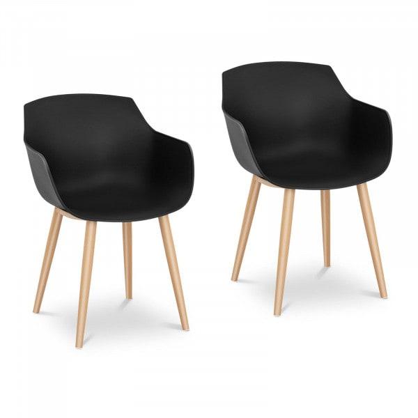 B-zboží Židle - 2dílná sada - až 150 kg - sedák 43 x 40 cm - černá