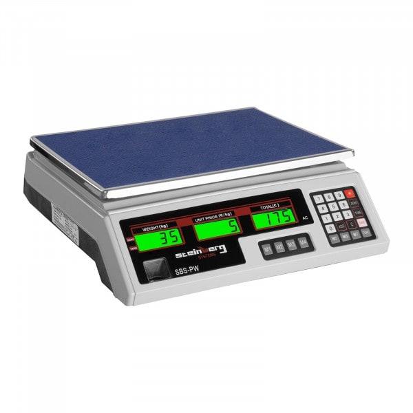 B-WARE Obchodní váha - 35 kg / 2 g - bílá - LCD