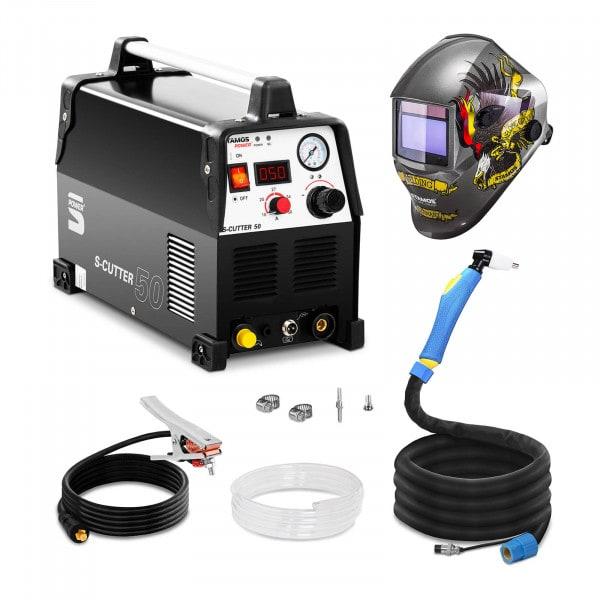 Svařovací set Plazmová řezačka - 50 A - 230 V - Pro + Svářecí helma- Eagle Eye - ADVANCED SERIES
